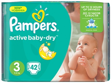 Pampers Active Baby-Dry S3 42