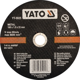 Yato YT-5925 Metal Cutting Disc 180mm