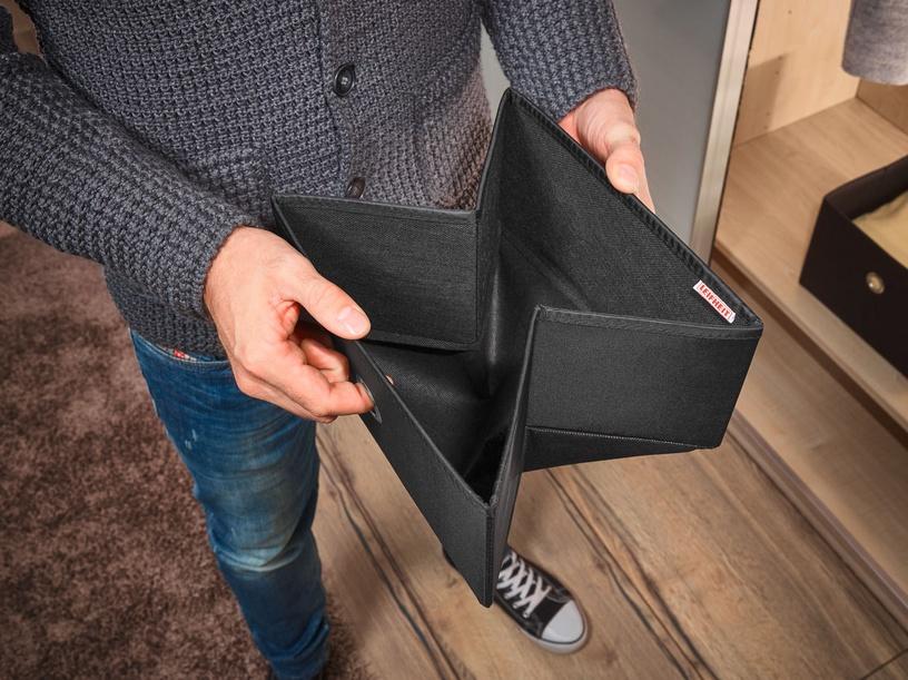 Leifheit Cloth Small Box 2PCS 27.5x28x13cm Black/Combi System