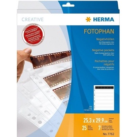 Herma Fotophan 6 PP SL Negative Pockets 25 Sheets