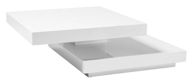 Kafijas galdiņš Signal Meble Falon White, 750x750x340 mm