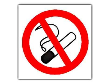 No Smoking Sign Sticker 140x110mm Multicolored