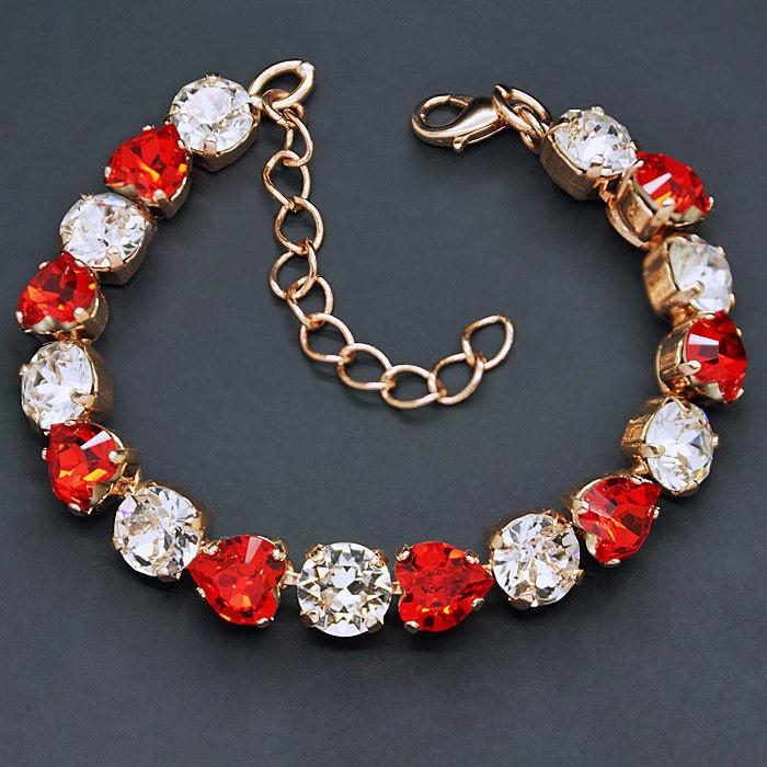 Diamond Sky Bracelet For You II Siam With Crystals From Swarovski