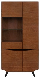 Black Red White Madison Glass Cabinet REG3D1W/200 Brown Oak