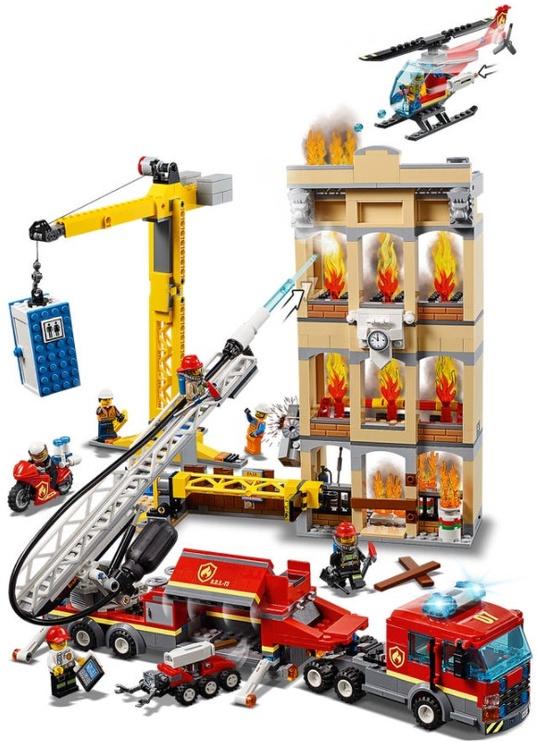 Konstruktor LEGO® City 60216 Kesklinna tuletõrjebrigaad