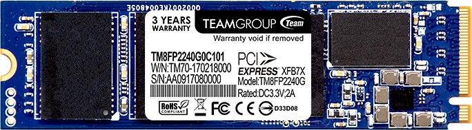 Team Group P30 240GB NVMe 1.2 M.2 TM8FP2240G0C101