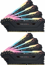 Corsair Vengeance RGB Pro Black Series 64GB 2666MHz CL16 DDR4 KIT OF 8 CMW64GX4M8A2666C16