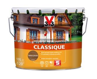 Medienos impregnantas V33 Classique, tamsaus ąžuolo spalvos, 10 l