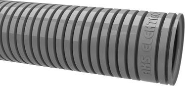 Gofruotas instaliacinis vamzdis RKGLP 16, PVC, pilkas