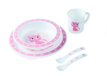 Canpol Babies Plastic Ware Set Cute Animals 4/401 Cat