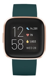 Fitbit Versa 2 Emerald Copper Rose Aluminum
