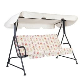 Home4you Stoccolma Garden Swing 3 Seater White/Dark Grey