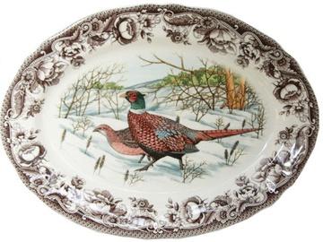Claytan Haydon Grove Pheasant Oval Plate 35.5cm