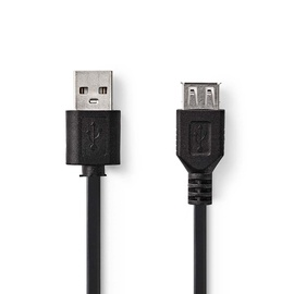 Cable Usb 2.0 a male-a female 2m black