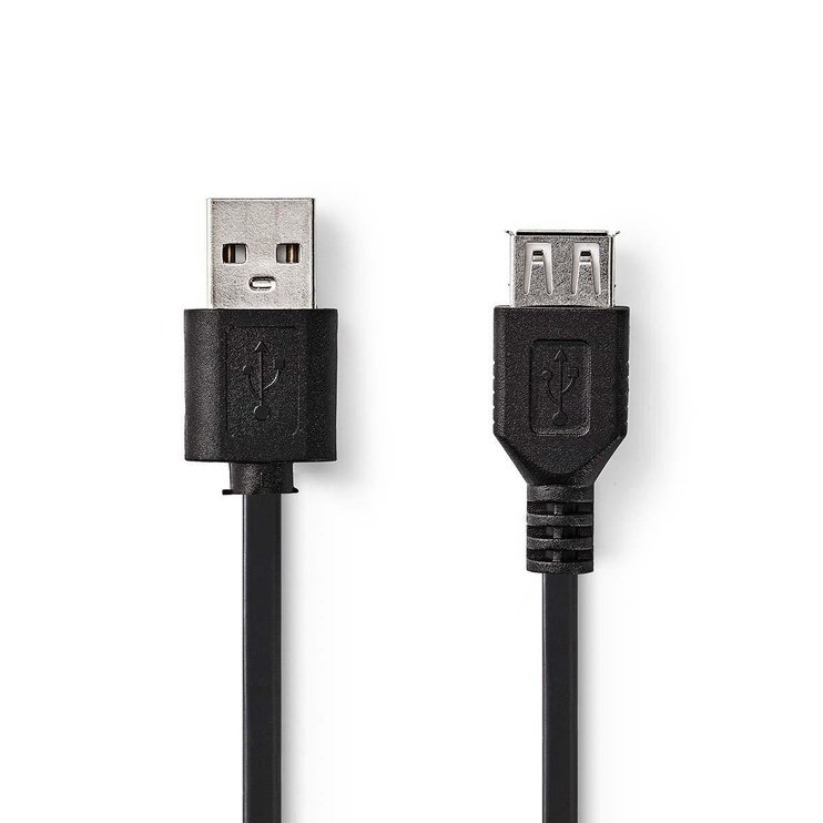 Кабель Nedis USB 2.0 Cable A Male - A Female 2.0 m