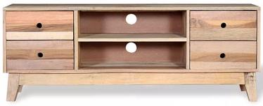 TV galds VLX TV Cabinet Solid Reclaimed Wood, brūna, 1200 mm x 300 mm x 450 mm