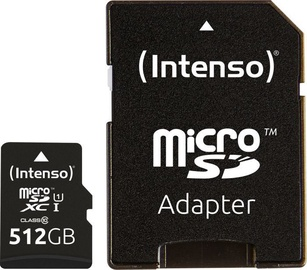 Intenso Premium 512GB microSDXC UHS-I Class 10 + SD Adapter