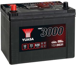 Akumuliatorius Yuasa YBX3031, 12 V, 72 Ah, 630 A