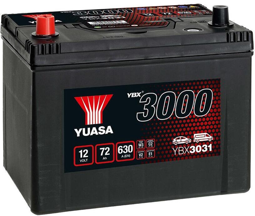 Аккумулятор Yuasa YBX3031, 12 В, 72 Ач, 630 а