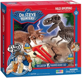 Geoworld Paleo Adventures Tyrannosaurus Rex vs Triceratops Excavation Kit CL1660K