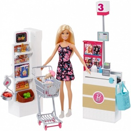 Mattel Barbie Doll With Supermarket  Playset FRP01