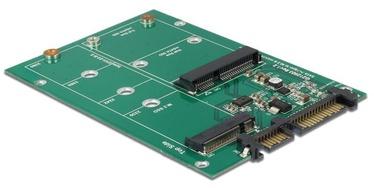 Delock Adapter SATA 22 pin / 1 x M.2 + 1 x mSATA