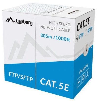 Lanberg Cable FTP CAT 5E CU Grey 305m