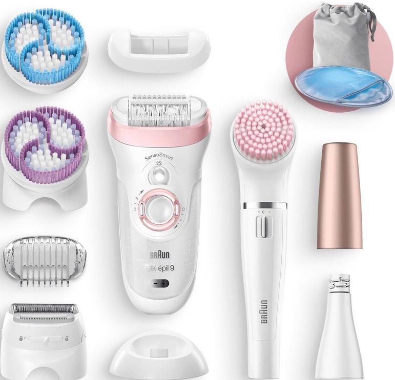 Braun Silk-épil 9-975 Beauty Set Sensosmart White/Pink/Purple