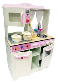 4IQ Urte Wooden Mini Kitchen White/Pink