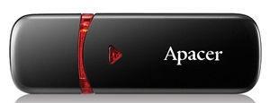 USB atmintinė Apacer AH333 Black, USB 2.0, 64 GB