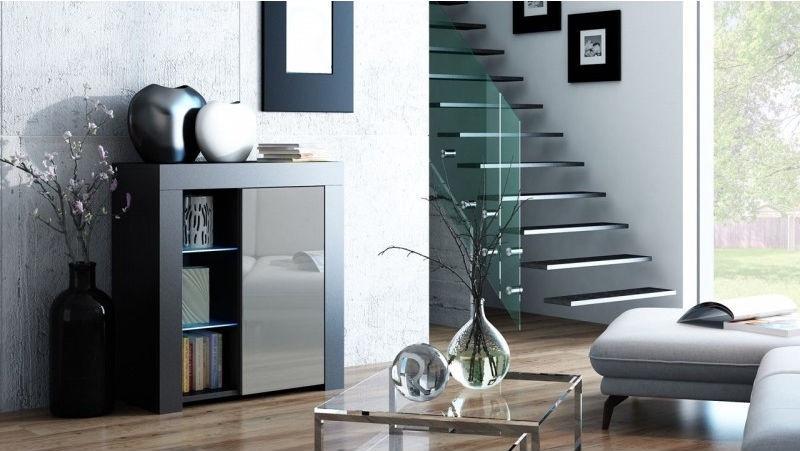 Pro Meble Milano PKC 1D Black/Grey