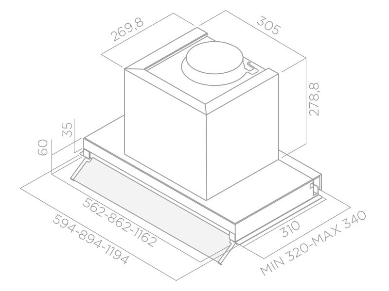 Garų rinktuvas Elica Box In IX/A/60
