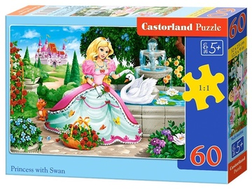 Castorland Puzzle Princess With Swan 60pcs