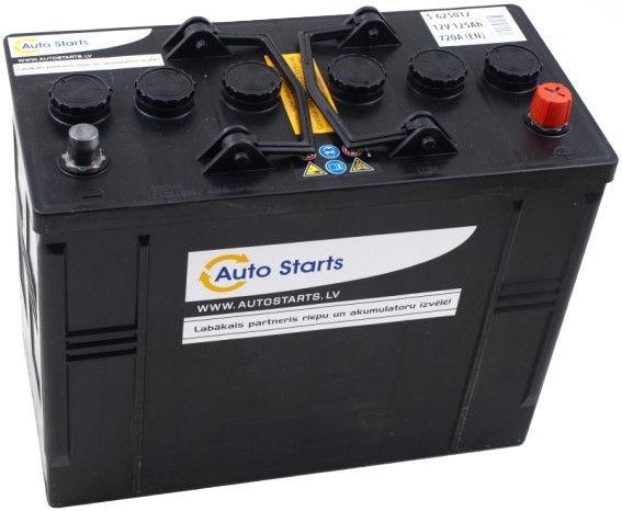 Аккумулятор Auto Starts, 12 В, 125 Ач, 720 а
