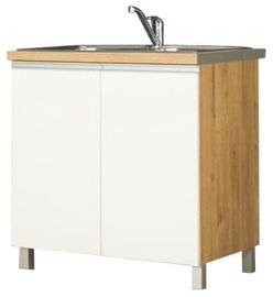 Bodzio Monia Lower Cabinet For Sink 80 White/Brown