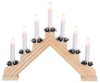 Verners Ada Wooden Candlestick With Wreaths