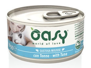 Oasy Adult Cat Wet Mousse w/ Tuna 85g