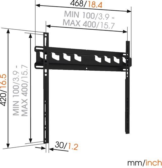 Vogels MA3000 Wall Mount For TV 32-55'' Black