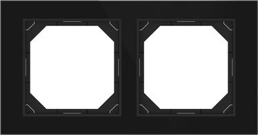 Dvivietis rėmelis Vilma QR1000, juodas stiklas