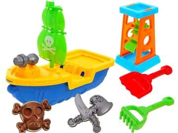 Liivakasti mänguasjade komplekt Pirate Ship, mitmevärviline