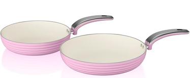 Swan Retro 20cm/28cm Fry Pans SWPS2010PN Pink