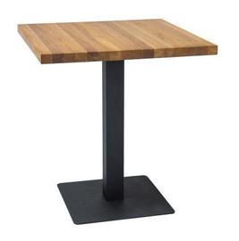 Pusdienu galds Signal Meble Puro Oak/Black, 700x700x760 mm