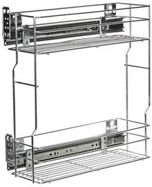 Bodzio Kitchen Cabinet Cargo Basket 20cm Metallic