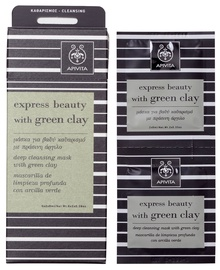 Apivita Express Cleansing Mask Green Clay 2 x 8ml