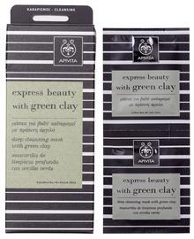 Apivita Express Cleansing Mask Green Clay 2 x 8ml