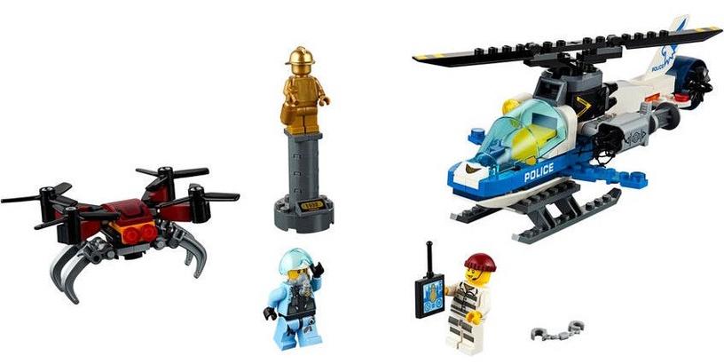 Konstruktorius LEGO® City 60207 Padangės policijos skraidyklių gaudynės
