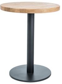 Pusdienu galds Signal Meble Puro II Oak/Black, 800x800x760 mm