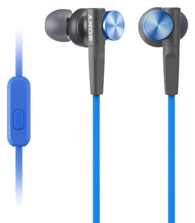 Ausinės Sony XB50AP EXTRA BASS In-Ear Headphones Blue