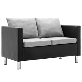 Диван VLX 2-Seater 247165, черный/серый, 61 x 119 x 62 см