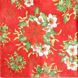 Paw Decor Collection Fabulous Poinsettia 33 x 33 cm